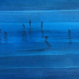 Bathers in Blue, Traught Beach