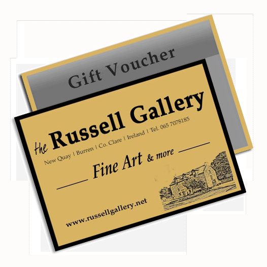 Gift vouchers available at The Russell Gallery